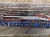 Porte aperte 2011 per i 100 delle OGR di Foligno: la foto esposta con le maestranze davanti alla E 404 001, in livrea Frecciarossa per i 150 anni dell'Unità d'Italia. (28/10/2011; foto Davide Porciello / tuttoTreno)