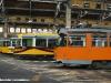 Il 4900, il primo dei tram di questa serie ad essere stato revampizzato, nel deposito di Leoncavallo tra altre vetture del parco ATM. (06/10/2011; foto Marco Stellini / TuttoTreno)