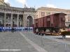 Il Carro della Memoria esposto in Piazza del Plebiscito a Napoli. (24/01/2012; foto Antonio Bertagnin / tuttoTreno)