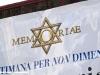 Il logo della manifestazione sul Carro della Memoria esposto in Piazza del Plebiscito a Napoli. (24/01/2012; foto Antonio Bertagnin / tuttoTreno)