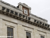 La storica scritta Ferrovie Padane sul frontale della stazione di Ferrara Porta Reno, lato piazzale fronte strada. (Ferrara, 29/01/2011; foto Marco Bruzzo / tuttoTreno)