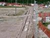 I lavori di realizzazione della tratta tra la PKM 4+020 e Bivio Rivana per raccordare la linea Ravenna-Ferrara alla Codigoro–Ferrara. (24/03/2010; foto R. Fogagnolo)