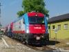 Le 3 locomotive E 190 (311 INR, 301 FUC e 302 FUC) durante il trasferimento, trainate dalla FUC Ld405, dal DL FUC a Udine Parco da dove hanno proseguito isolate fino a Gemona del Friuli per le corse di certificazione. (Udine 25/05/2011; foto Enrico Ceron / tuttoTreno)