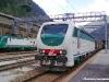 La E 403 005 in testa al treno utilizzato per le corse prova sulla linea del Brennero, durante la sosta nella stazione di valico. (20/05/2011; Marco Merlin / tuttoTreno)
