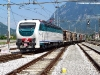La E 403 005 in spinta al treno utilizzato per le corse prova in Pontebbana, in partenza da Gemona del Friuli. (27/05/2011; foto Enrico Ceron / tuttoTreno)