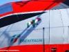 """Il logo 150° Unità d'Italia sulla E 404 002 """"Romolo"""", versione Frecciarossa, in preparazione per la partenza da Foligno per Torino. (08/03/2011; foto Raffaele Zampella / tuttoTreno)"""