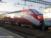 La E 404 002 in livrea Frecciarossa, appositamente applicata per l'esposizione delal locomotiva a Torino in occasione delle celebrazioni dei 150° dell'Unità d'Italia. (09/03/2011; foto Stefano Patelli/ tuttoTreno)