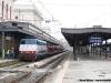 Arrivo del treno EN 1145 Vienna-Livorno nella stazione toscana, trainato dalla E 444 016. (Livorno, 31/03/2012; Marco Carrara / tuttoTreno)