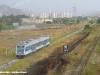 L'autotreno DE M4c 505 effettua il treno 913 da Catanzaro Lido a Catanzaro Città; a destra la linea dismessa di RFI tra Sala e Lido. (Catanzaro Aranceto, 19/09/2011; Roberto Galati / tuttoTreno)
