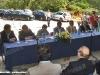 L'inaugurazione del nuovo ponte è stata preceduta dai discorsi delle autorità convenute a San Pietro Apostolo (04/08/2011; Roberto Galati / tuttoTreno)