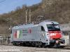 primo viaggio con i nuovi loghi aziendali per la E 190 322 di Compagnia Ferroviaria Italiana, in trasferimento da Piedimonte a Terni. (Morolo, 27/02/2012; foto Davide Porciello / tuttoTreno)