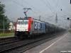 La E 186 181 in carico a SBB in transito nella fermata di Boppard, lungo la linea ferroviaria della sinistra Reno. (28/07/2010; foto M. Stellini / tuttoTreno)