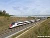 l'ETR 610 14, destinato alle SBB, in corsa prova come NCLS 17940 Chiasso-Torino sulla linea AVAC Milano-Torino nei pressi di Brianco. (19/10/2010; foto Massimo Rinaldi / tuttoTreno)