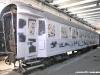 Una delle quattro carrozze del Treno Azzurro durante i lavori di verniciatura nella livrea del famoso treno Rapido. (24/10/09; foto Leonardi / ATSL  / tuttoTreno)