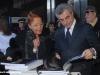 Marilena Ferrari, Presidente della Fondazione FMR-Marilena Ferrari, e Mauro Moretti, Amministratore Delegato delle Ferrovie dello Stato, alla presentazione dell'evento. (03/02/2011; © Ferrovie dello Stato / tuttoTreno)