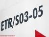 """La sigla dell'ETR S03/05 sulla fiancata del """"Lupetto"""" della ferrovia Sangritana in esposizione ad Avezzano. (26/06/2009; foto Antonio Bertagnin / tuttoTreno)"""