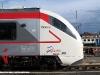 """Il profilo della cabina dell'ETR S03/05 """"Lupetto"""" della ferrovia Sangritana in esposizione ad Avezzano. (26/06/2009; foto Antonio Bertagnin / tuttoTreno)"""
