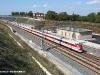 un ETR 450 effettua l'ES 9373 Roma-Reggio Calabria, qiui in transito sulla linea  Monte a Vesuvio Napoli-Salerno. (02/10/2009; foto M. Bruzzo / TuttoTreno)