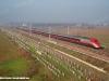 L'ETR 500 11 in servizio commerciale transita sull'AVAC Milano-Bologna nei pressi di Bivio Castelfranco Est. (22/12/2008; foto Marco Cacozza / tuttoTreno)