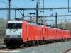 Quattro 186 TRAXX utilizzate per i treni FYRA tra Amsterdam e Rotterdam in sosta nel deposito NedTrain nella capitale olandese. (23/04/2010; Maurizio Fantini / tuttoTreno)