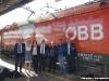 lo staff di DB, ÖBB e LeNORD dopo l'arrivo della prima in esercizio commerciale tra Monaco di Baviera e Verona. (Verona, 22/05/2010; © Marco Bruzzo / tuttoTreno)
