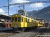 Le elettromotrici storiche ABe 4/4 30 e 34 delle RhB in partenza da Tirano per St. Moritz con un treno speciale per i 100 anni della Ferrovia del Bernina. (28/02/2010; foto Walter Bonmartini / tuttoTreno)
