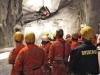 La caduta dell'ultimo diaframma della canan est della galleria di base del Gottardo. (15/10/2010; foto Alp Transit / tuttoTreno)