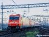 Le E 483 018 e 020 di Arena Ways in arrivo ad Alessandria con l'Espresso Autozug DB 13373 da Dusseldorf. (05/04/2010; foto Massimo Rinaldi / tuttoTreno)