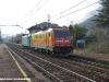 Le E 483 020 e 019 inrientro da Domodossola ad Asti dopo aver effettuato un invio di carrozze verso la Germania. (Cuzzago, 08/04/2010; foto Paolo Di Lorenzo / tuttoTreno)