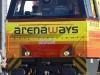 Un particolare del frontale della G 2000 33 di Arena Ways con la nuova livrea definitiva. (Livorno, 31/07/2010; foto Frank Andiver / tuttoTreno)