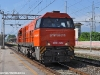 La G 2000 33 di Arena Ways il 15 luglio durante il trasferimento da Asti a Livorno: la pellicola arancione della nuova livrea è stata applicata. (Viareggio; foto Stefano Patelli/ tuttoTreno)