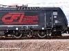 Il logo di Compagnia Ferroviaria Italiana sulla E 189 409 CFI. (Melzo Scalo, 26/04/2010; foto Alessandro Destasi / tuttoTreno)