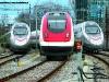 un ICN delle SBB tra due ETR 610 di Cisalpino in deposito a Ginevra. (03/03/2008; Giancarlo Modesti / tuttoTreno)