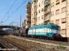 La E 636 448, in uso alla oggi cessata impresa ferroviaria Del Fungo Giera, in testa al treno 50361, composto di carri cisterna, in transito nella stazione di Genova Quarto dei Mille. (04/05/2006; foto Francesco Lijoi / tuttoTreno)