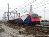 La E 190 301 della FUC in coda al treno che l'ha trasferita da Tarvisio Boscoverde a Gemona del Friuli. (25/01/2011; foto Enrico Ceron / tuttoTreno)