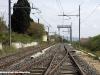 A destra il binario d'incrocio posato ad Orciano, sulla tratta Vada-Pisa della linea Roma-Pisa. (21/04/2010; foto Benedetto Sabatini / Duegieditrice)