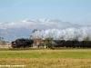 La 740 143 alla testa di un treno storico sulla Carmagnola-Bra. (Oselle, 18/10/2009; foto Andrea Acquadro / tuttoTreno)