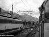 prospettiva diversa per unaE 444 ed una E 656 in stazione a Domodossola. (22/08/2007; foto Giovanni Chietti / tuttoTreno)