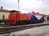 La E 190 301 della FUC viene manovrata dalla Ld 405 nel Deposito Locomotive FUC della città friulana. (25/01/2011; foto Enrico Ceron / tuttoTreno)