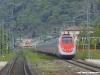 Un ETR 500 Frecciarossa in servizio Milano–Roma, deviato sulla Firenze–Pisa–Civitavecchia. (Montelupo Fiorentino, 24/07/2011; foto Frank Andiver / tuttoTreno)