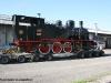 La 240 05 delle Ferrovie Nord Milano, ora nel parco di Trenord, sul carrello stradale al suo arrivo al Deposito di Novate Milanese. (11/08/2011; foto Lucato Termica / tuttoTreno)