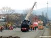 Le operazioni di carrellamento della 940 030 FS del Museo Ferroviario Piemontese e dell'E 404 002 in livrea Frecciarossa allo scalo di Torino San Paolo. (11/03/2011; © Angelo Nascimbene / tuttoTreno)