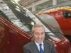 Incontro Alstom con i clienti NTV e Virgin Trains nello stabilimento di Savigliano: Giuseppe Sciarrone, AD di NTV, davanti al treno Italo. (30/11/2011; foto Marco Bruzzo / tuttoTreno)
