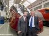 Incontro Alstom con i clienti NTV e Virgin Trains nello stabilimento di Savigliano: il presidente di Alstom Italia Pierre-Louis Bertina con l'AD di NTV Giuseppe Sciarrone. (30/11/2011; foto Marco Bruzzo / tuttoTreno)