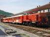 Il Treno dei Sapori de LeNORD esposto a Iseo: in composizione la locomotiva Cne 517, le carrozze Bz 80 23 e 24 e il bagagliaio FNM D 861. (17/05/10; © foto Carlo Bonari / tuttoTreno)
