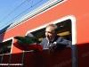 Il Ministro della Difesa La Russa a bordo del Treno dell'Eroe, rievocazione del Treno del Milite Ignoto del 1921. (Cervignano, 29/10/2011; foto Luigi Mighali / tuttoTreno)