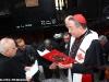 La benedizione del treno e del personale FS prima della partenza del Caritas Express dalla stazione della Città del Vaticano per Orte. (RomaFrancesco Maria / tuttoTreno)