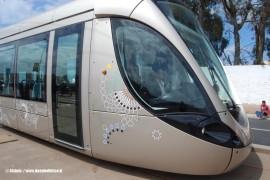 Il primo dei tram Citadis doppi consegnato da Alstom alla Société du Tramway de Rabat-Salé. (foto Alstom / tuttoTreno)