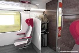 Una bagagliera verticale nella carrozza di 1ª classe dei nuovi treni IC a doppio piano. (© Copyright 2010 SBB CFF FFS / TuttoTreno)