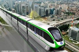 Il rendering della monorotaia di Bombardier per la linea 2 delal città di San Paolo del Brasile. (Fone Bombardier /TuttoTreno)